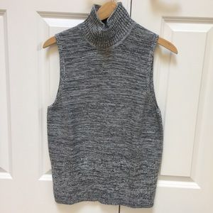Women's sleeveless mock neck sweater